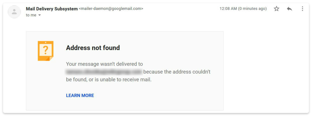 send test email to verify address